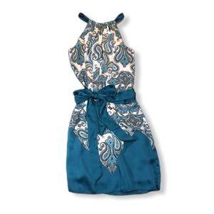 Max Studio Silky Paisley Dress